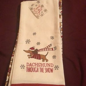 Other - Set of two dachshund dish towels